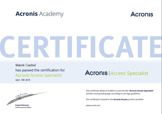 Acronis Access Specialist