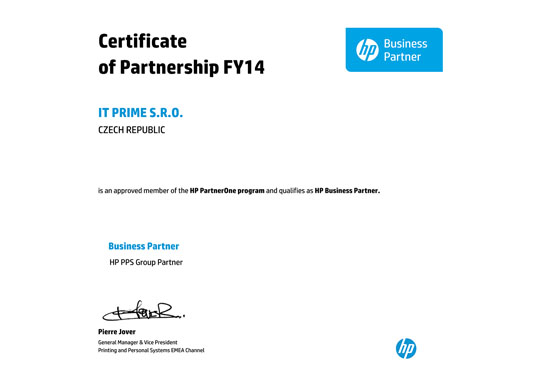 HP Business Partner Partnership FY14