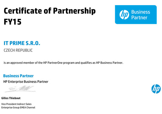 HP Enterprise Business Partner Partnership FY15